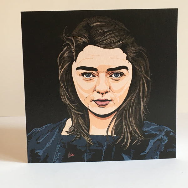 Game of Thrones Arya Stark II Greetings card