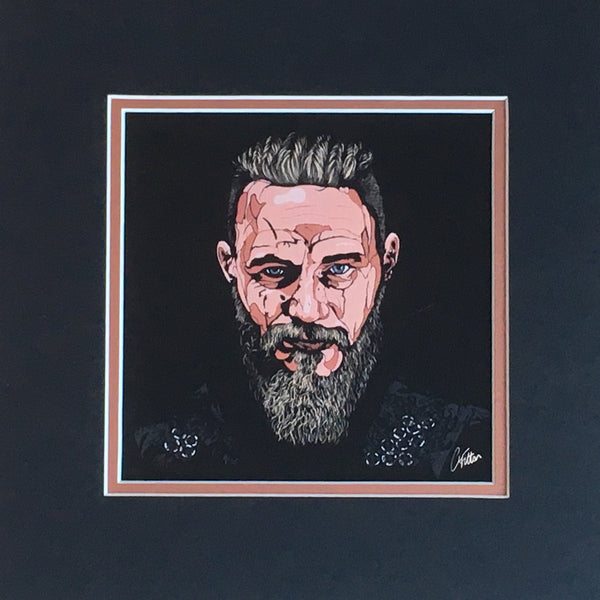 Ragnar Lothbrok stylised mini print