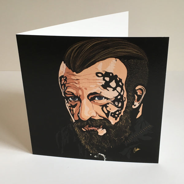 Vikings King Harald Greetings card