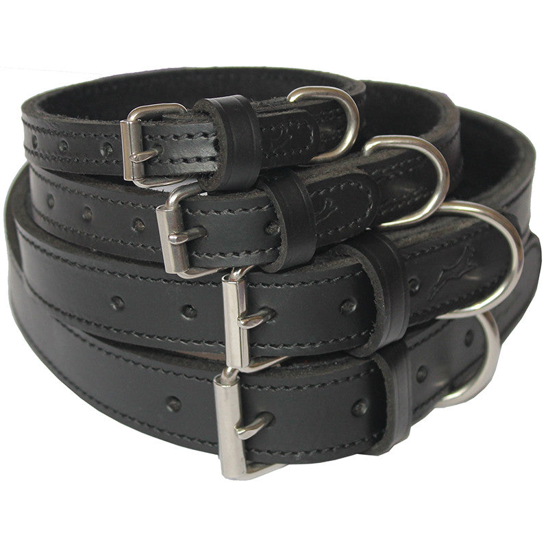 Ultra Soft, Suede Lined Collars - Black