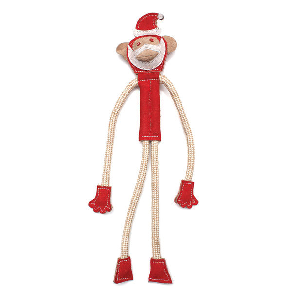 Santa Monkey - Natural Eco-Friendly Dog Toy - Miro&Makauri