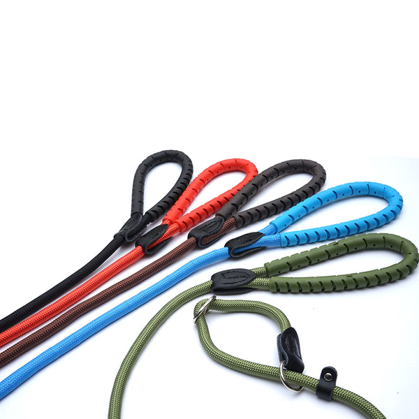 RUBBER HANDLE GRIP - Slip Lead with Figure 8 Training Aid.