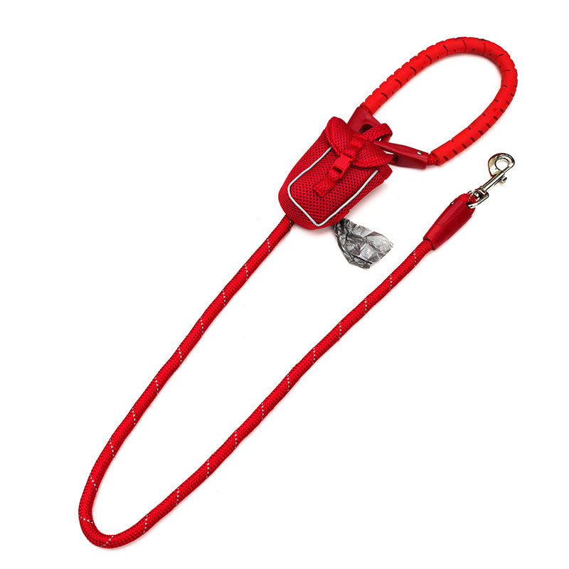 Rubber Handle Rope Leads With Bag