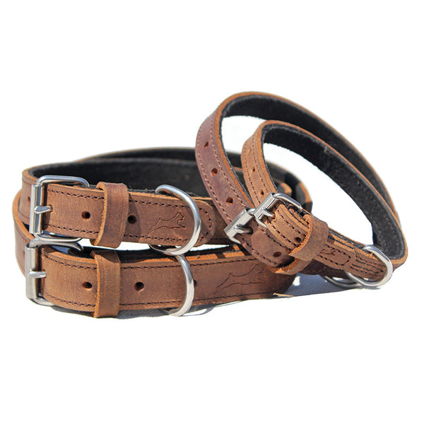 Ultra Soft, Suede Lined Collars - Brown - Miro&Makauri