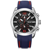 Men's Silicone Band Chrono Watch