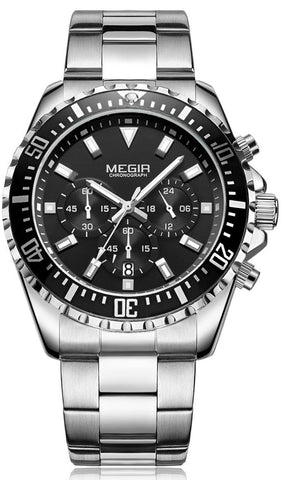 Stainless Steel Chronograph Men's Watch
