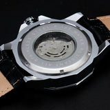 Dodecagon Automatic Leather Band Men's Watch
