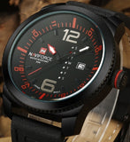 Leather Sports Speed Edition Wristwatch