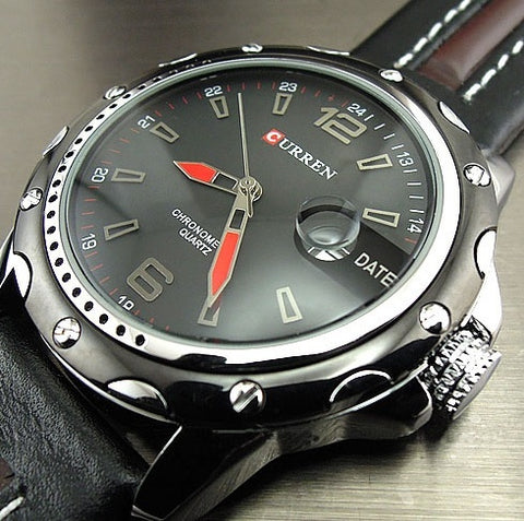 Luxury Leather Band Wristwatch