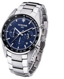 Luxury Sapphire Crystal Men's Business Wristwatch