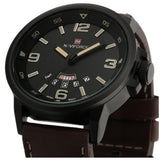 Military Design Leather Wristwatch