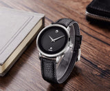 Minimalist Leather Strap Men's Wristwatch
