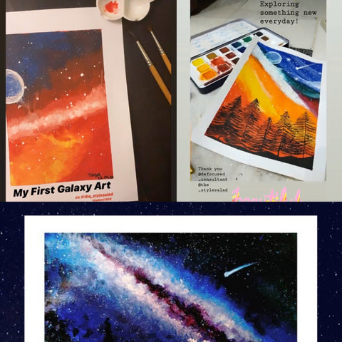 galaxy painting workshop at the style salad