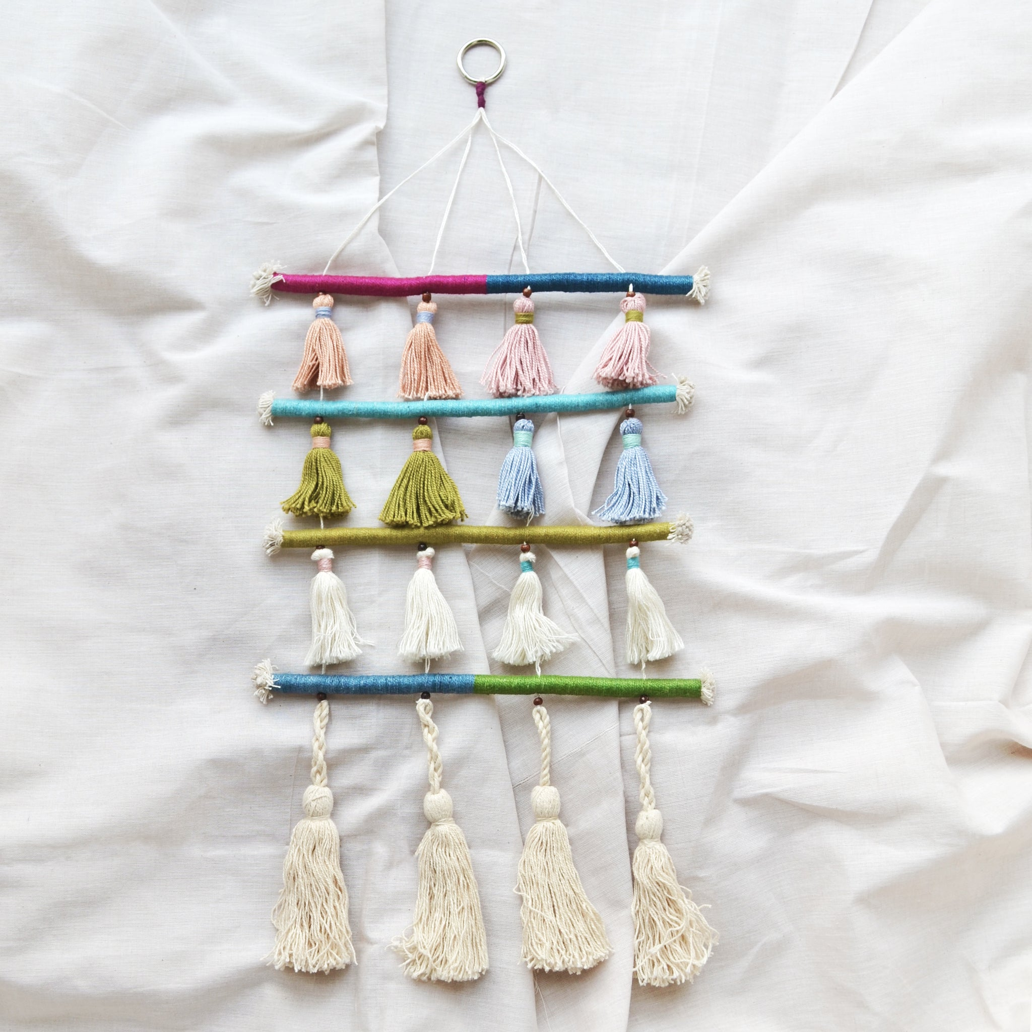 Multi Tiered Pastel Tassel