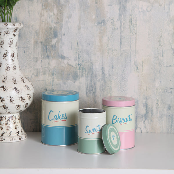 pastel snack storage tins