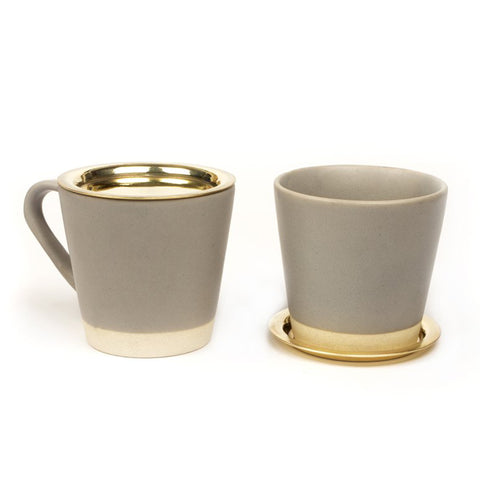 Basik Tea Cups with Brass Lids