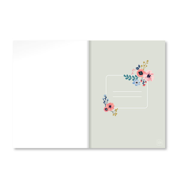 White Fantasy Floral Notebook
