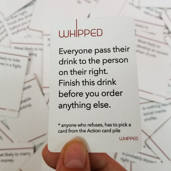 Drinking Card Game : Whipped
