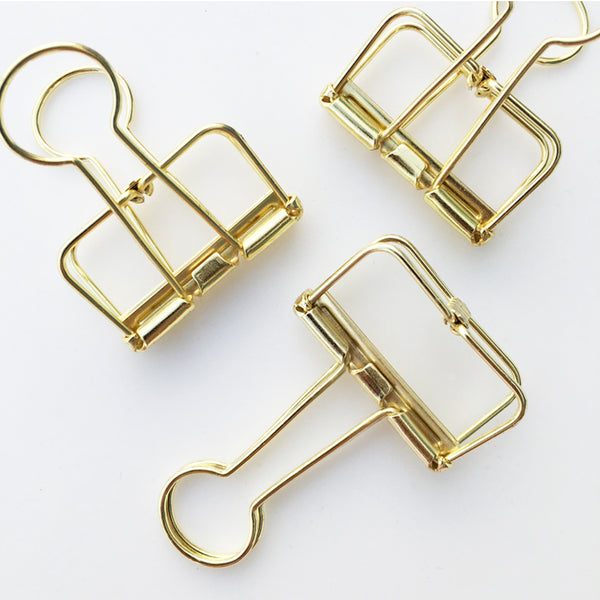 Binder Clips - Gold
