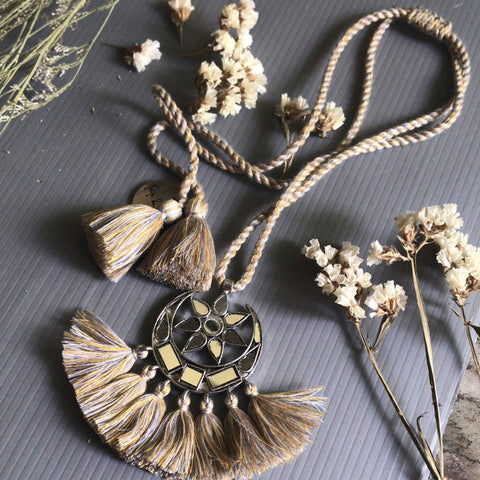 Mirror Tassel Necklace