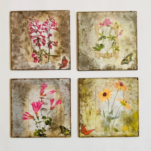 A Walk In My Garden Coasters