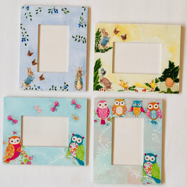 Owl and Rabbit Decoupage Frames