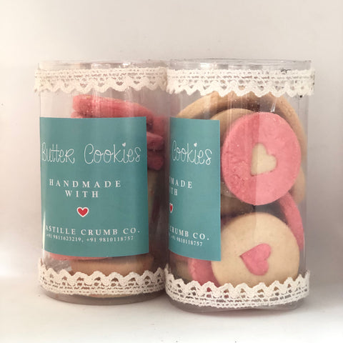 Heart Button Cookies