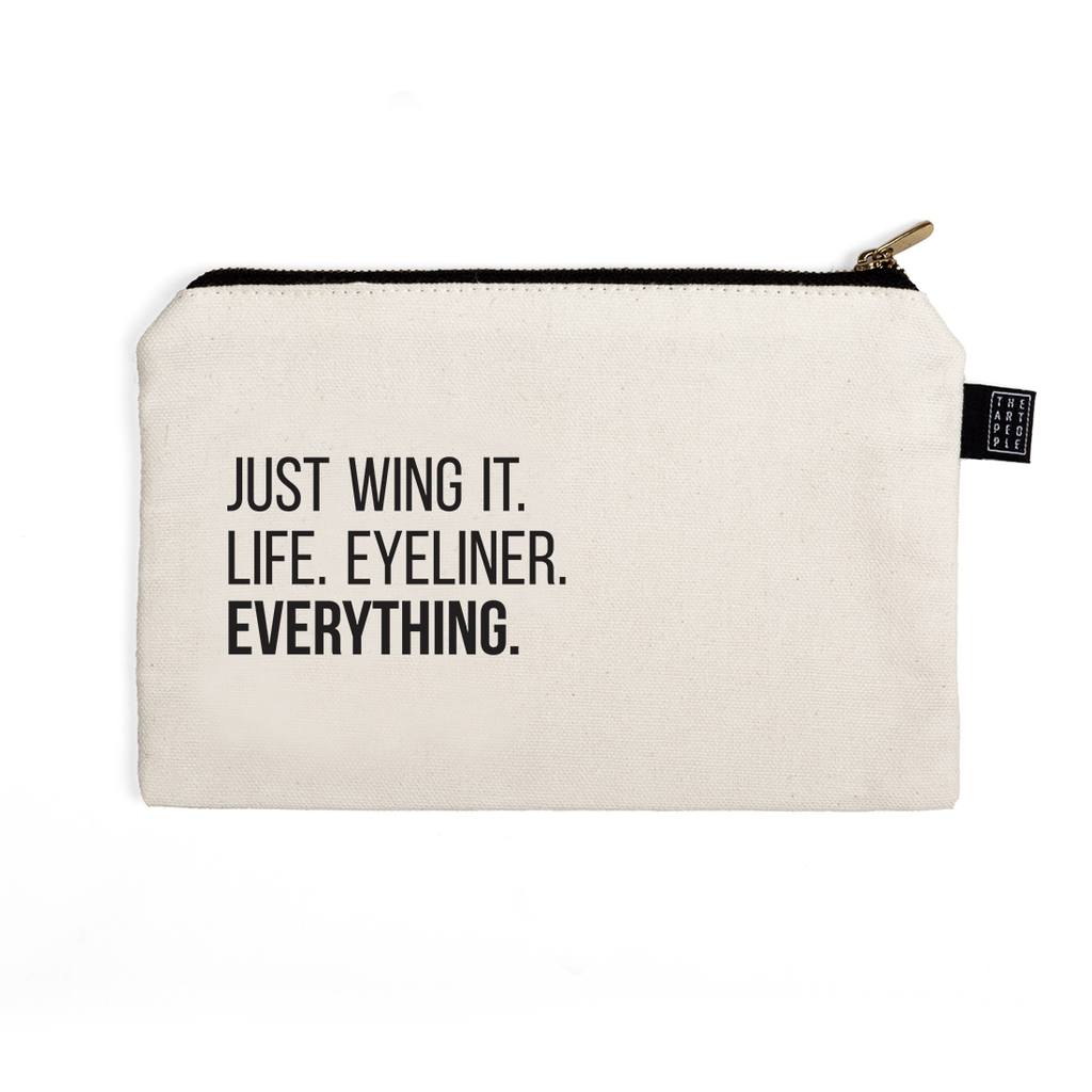 Just Wing it Canvas Pouch