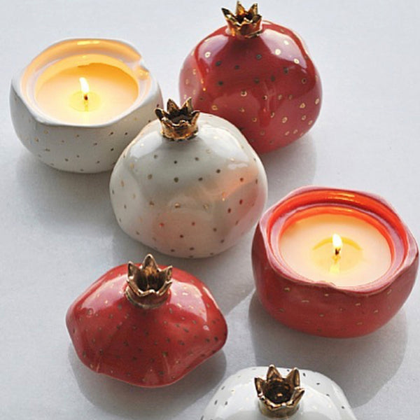 Pomegranate Candles