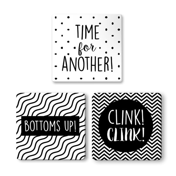 Time, Bottom, Clink Coasters