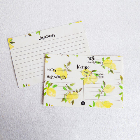 Citrus Kitchen Recipe Card (Set of 2)