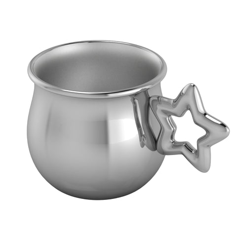 Silver Plated Star Baby Cup