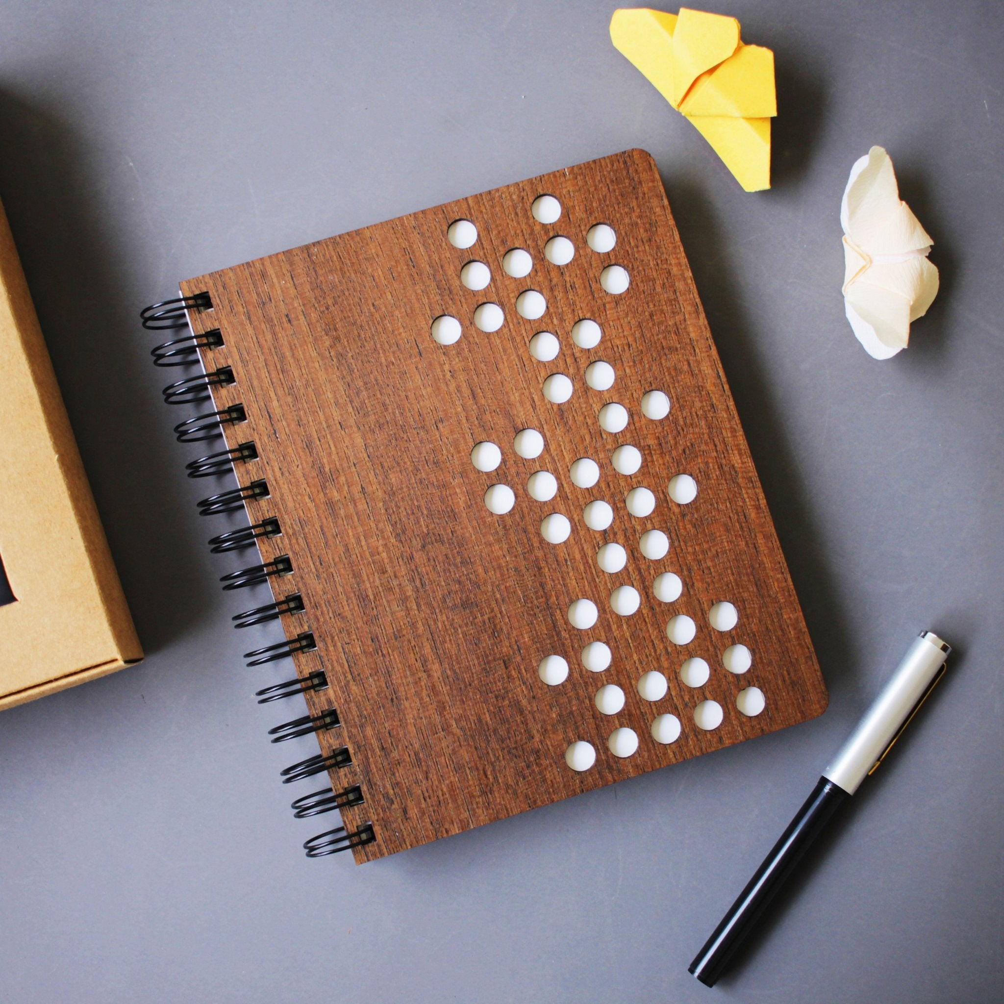 Domino Wooden Notebook