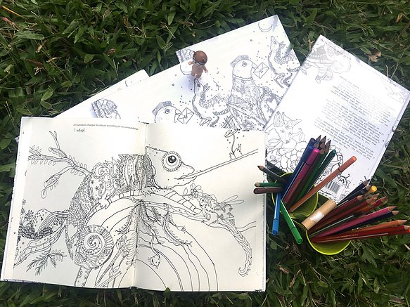 Messages From Nature Colouring Book