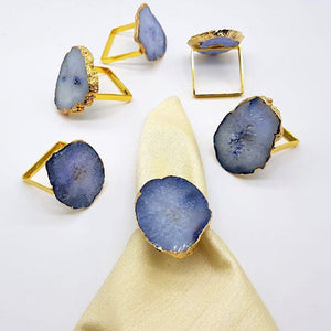 Natural Agate Napkin Rings