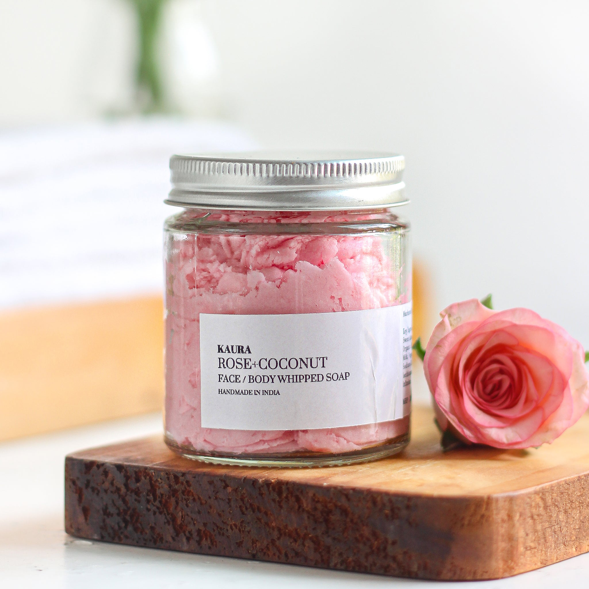 Rose+Coconut Whipped Soap