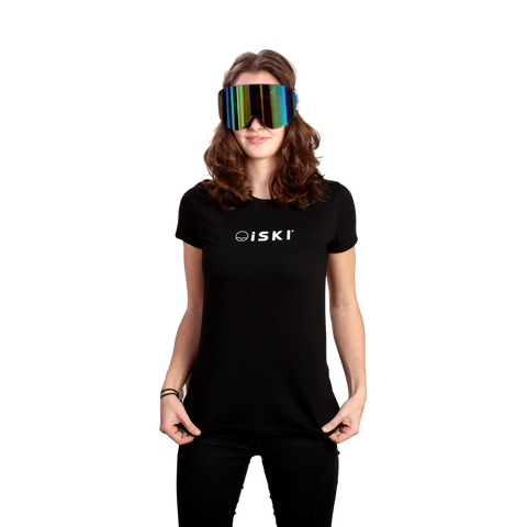 iSKI Ladies fitted T-Shirt - Connecting the world of skiing