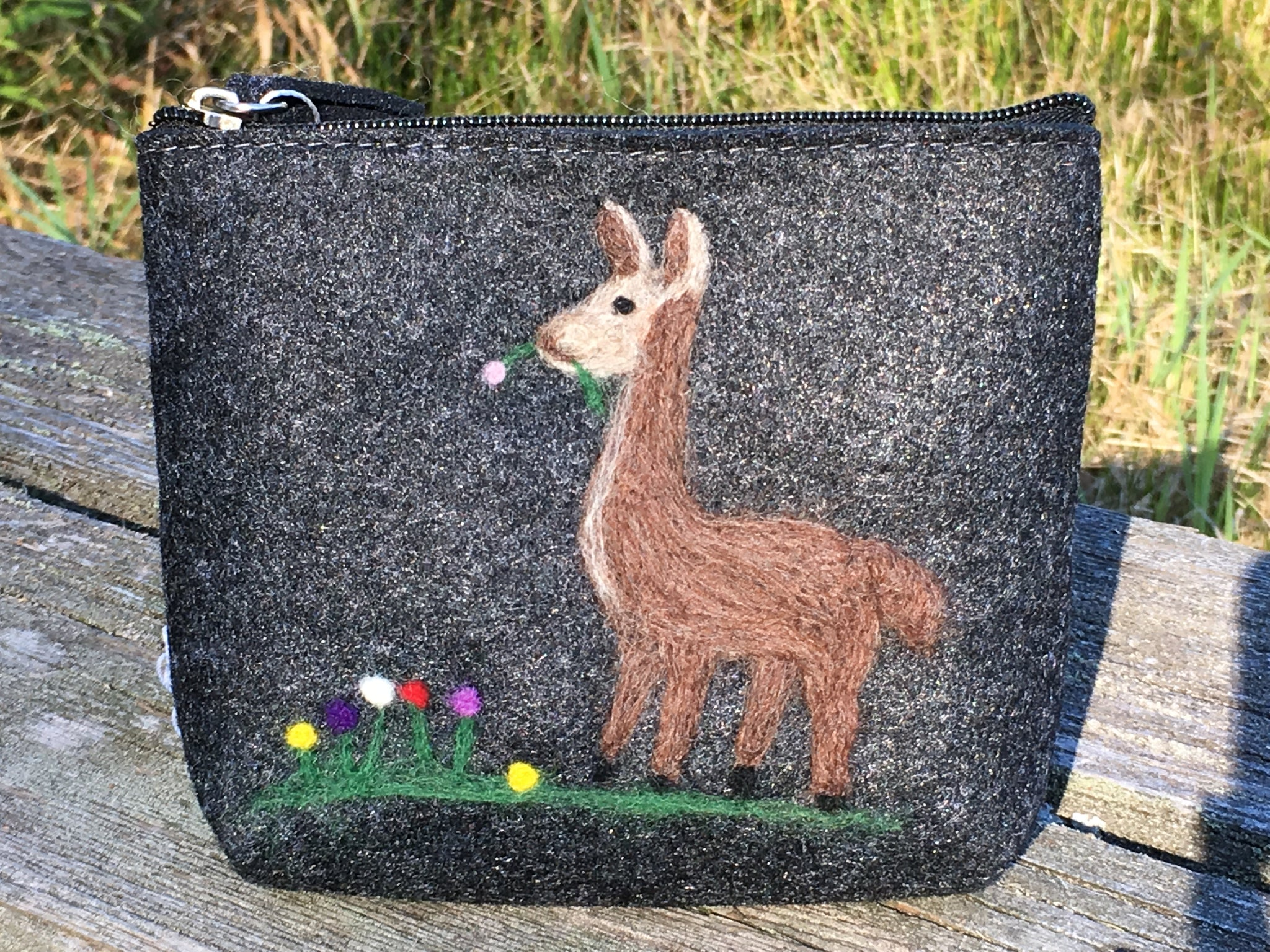 Felt Zippered Clutch in 4 Designs