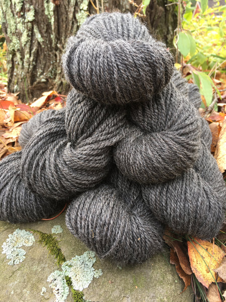 Yarn--Dark Gray Worsted Winnie