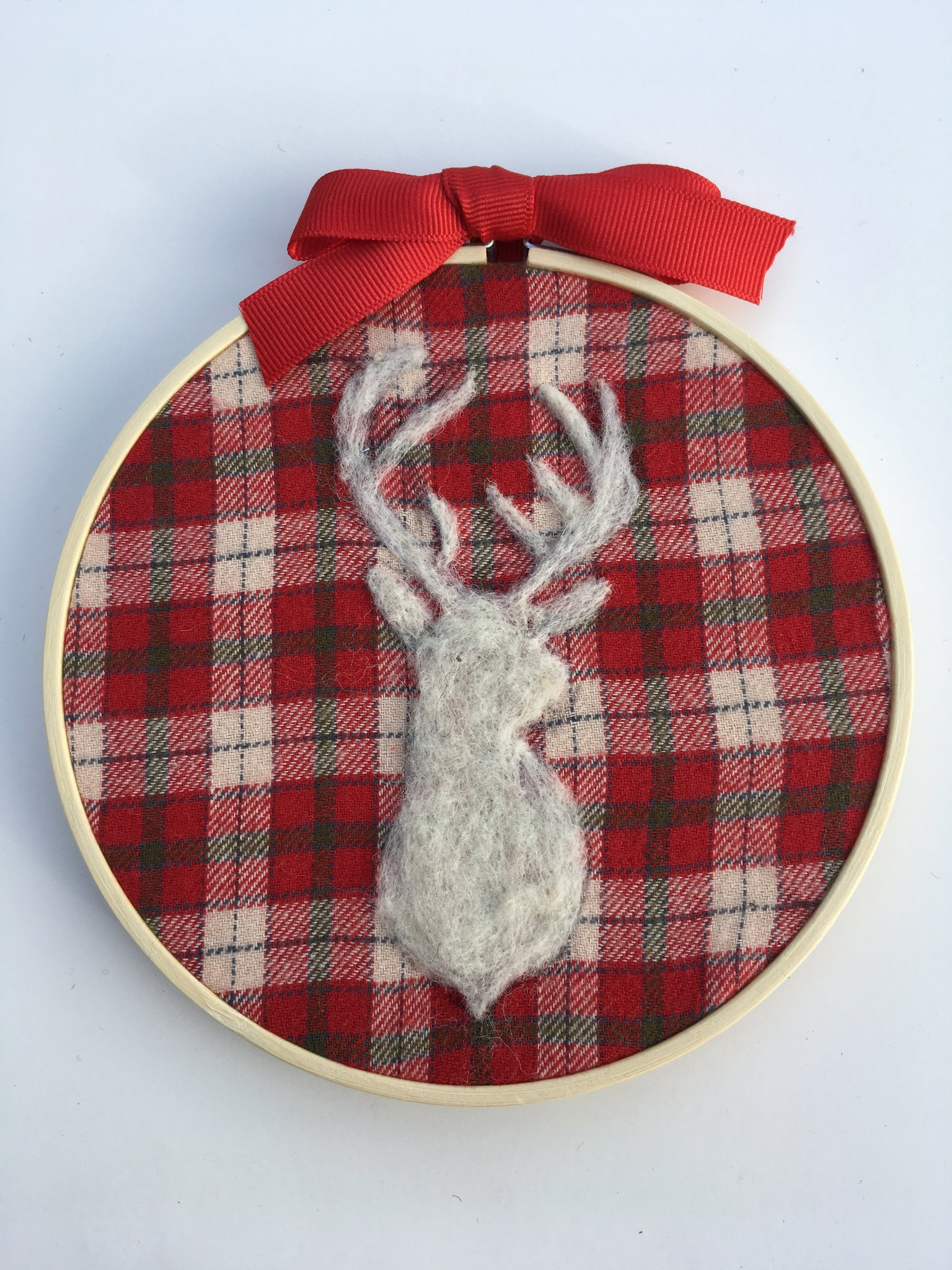 Embroidery Hoop--Deer Trophy