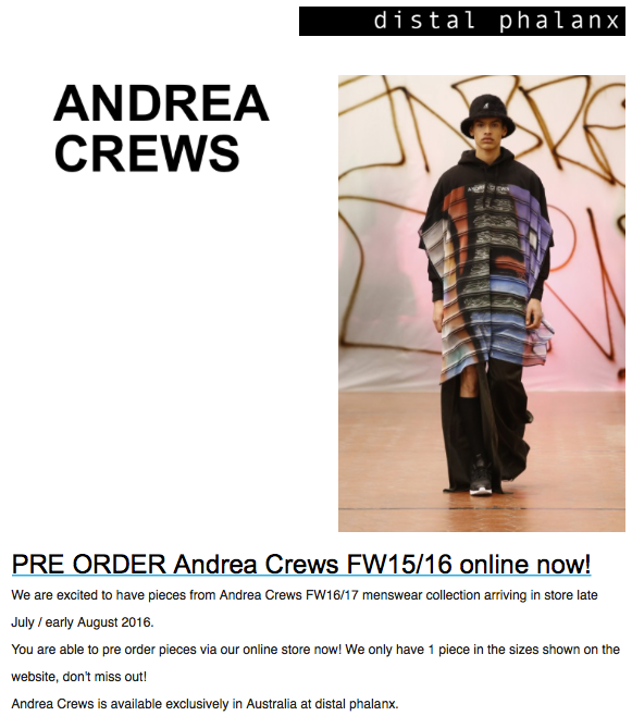 andrea crews fw16/17 - distal phalanx