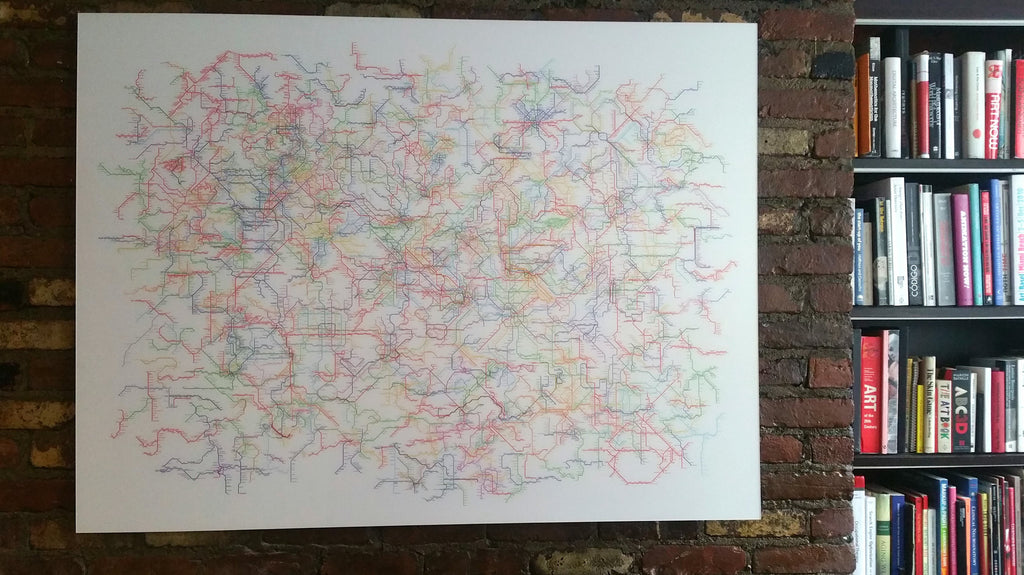 World Metro Map Acrylic Version