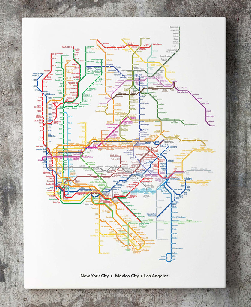 Customize Your Own World Metro Map Art Code Data