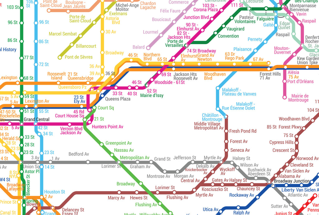 Customize Your Own World Metro Map