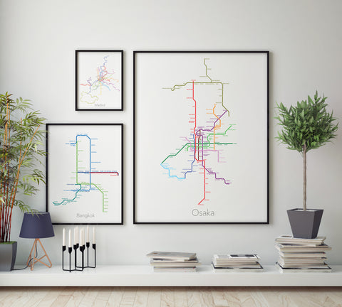 Single City Metro Map or Set