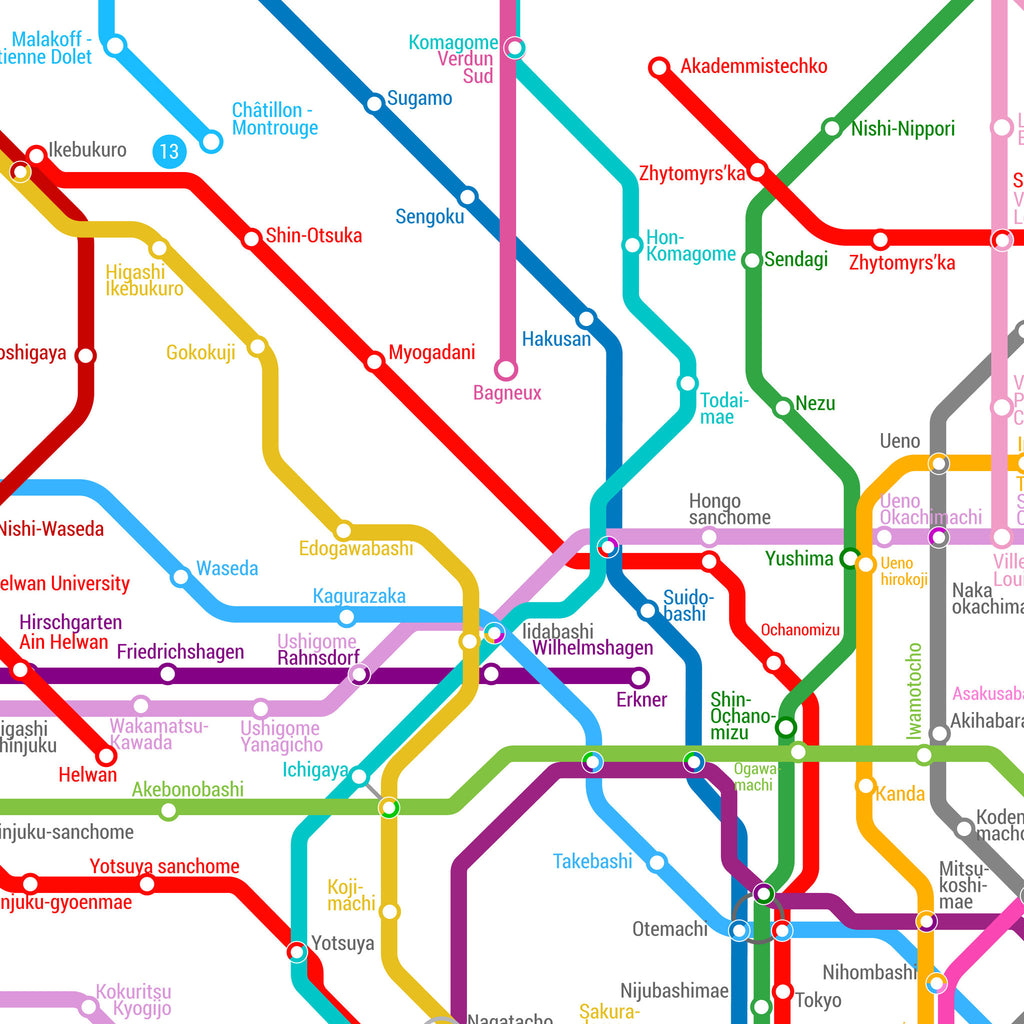 World Metro Map Large