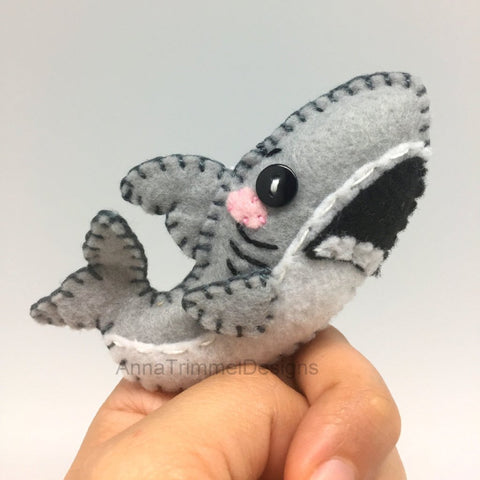 shark felt ornament