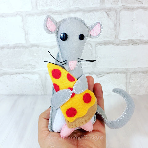 Felt pizza rat NYC gift