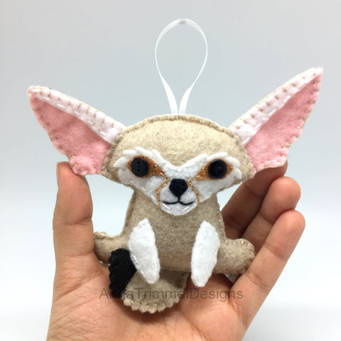 fennec fox felt ornament