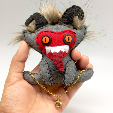 Krampus christmas felt ornament
